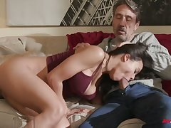 Cuban babe Luna Star gets acquainted with hard dick of old neighbor