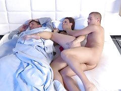 Wife cheats with her hubby sleeping next to her