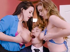 Milf on fire getting wild at the office with their boss