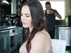 Killing hot Latin lesbian Alina Lopez seduces big tittied boss's wife