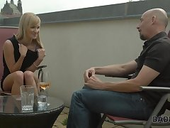 DADDY4K. Smoking-exciting blondie cheats aloft boyfriend with...