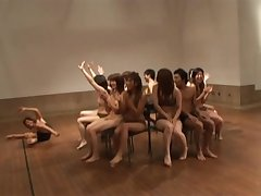 Japanese Babes Bunch Naked To Play Ball Rejoicing Nude