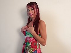 Redhead with too pumped up lips Heather wanna masturbate herself