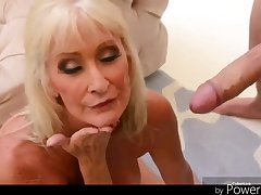 +60 Big titted blond hair babe granny still got it