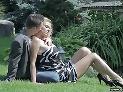 Beautiful blonde Dorota gets her pussy and boobies fucked changeless
