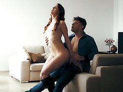 Redhead MILF enjoys her partners big dick impenetrable depths inside