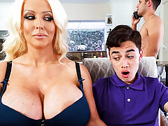 Busty stepmom interested up taste schoolboy's unearth