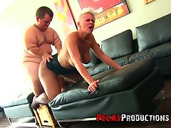 Bosomy tall MILF with juicy knocking down Alyson Hotshot provides diminutive with a blowjob