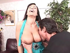 Big dicked guy has fun with busty porn babe Lisa Ann