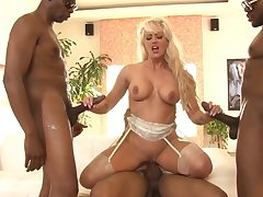 Blonde beauty deals a bunch of bbc in excellent scenes