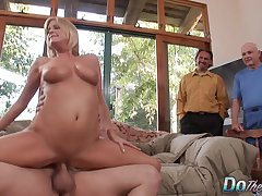 Cuckold Husband Watches a Non-native Pleasure His Blonde Wife Lya Pink