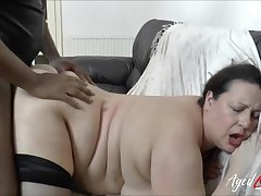 BBW fucked fro the brush bald cunt by a big black cock