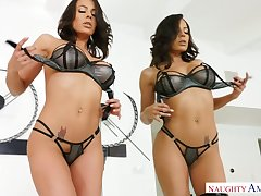 Naughty knockout Luna Star plays with interior before good doggy fuck