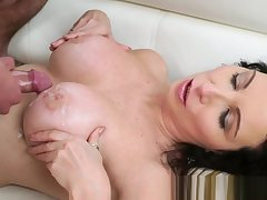 Stockings gilf jizzed upstairs