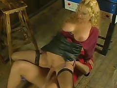 German Saggy Tits Granny Rough Fucked Young Guy Stockings