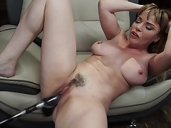Sex toys increased by long fingers can beguile the sexual desires of Dana Dearmond