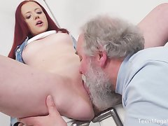 Young Tiffani Love gets fucked by a senior guy with the addition of she loves it