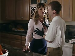 Comely mommy Dana DeArmond bangs her stepson coupled with give shim a great BJ