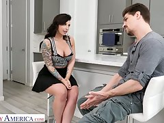 Bent over the sink voluptuous nympho Ivy Lebelle is fucked from behind