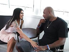Alluring MILF with gorgeous bubble irritant Melissa Lynn is fucked by black shine
