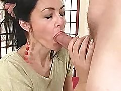 Mediocre MILF has her tight hole stuffed by a big load of shit