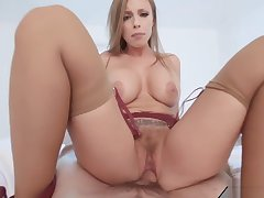 stepson finds his stepmother in the air lingerie