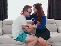 Red haired bitchy mommy Syren De Mer seduces stepdaughter's phase