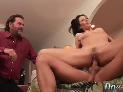Wife Zoey Holloway Swaps The brush Cuckold Husbands Limp Dick for a  One
