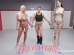 Hot BJJ MILF London River submits her hostile and then fucks her immutable