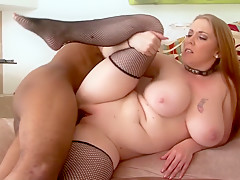 Incredible pornstar Mariah Cherry in best big cocks, interracial sex movie
